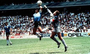 "Diego Maradona used his ""Hand of God"""