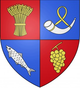 """Blason ville fr Miribel (Ain)"" by User:SpedonaImage created for the Blazon Project of the French Wikipedia - Own workiThe source code of this SVG is valid.This vector image was created with Inkscape by User:Spedona.. Licensed Early brand: Photo Wikimedia Commons -  Blason_ville"