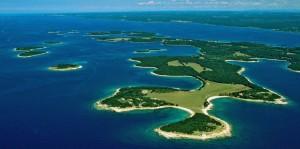 Brijuni or Brioni Island archipelago off Croatia's  Adriatic coast