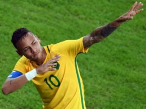 Brazil's soccer captain Neymar - tribute to the master
