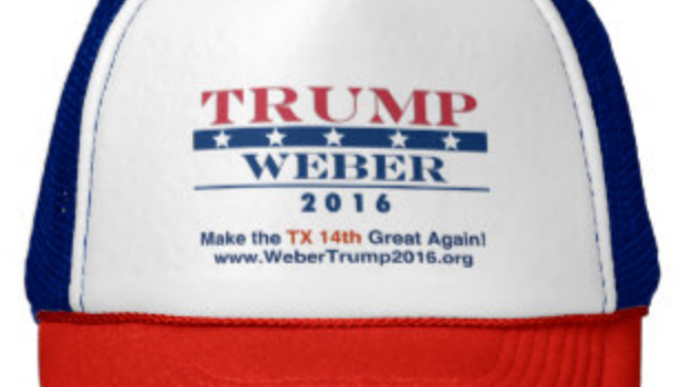 Who's that on Donald Trump's hat?