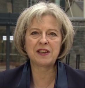 British Prime Minister Theresa May. Photo ConservativeHome website.