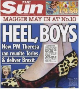 Britain's smartly-shod new leader takes the nation for a wwalk